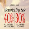 Coupon for: Memorial Day Savings at BCBGMAXAZRIA