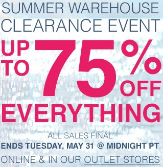 Coupon for: Summer Clearance Event at Tommy Bahama Outlets