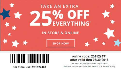 Coupon for: Memorial Day Savings from US Payless ShoeSource