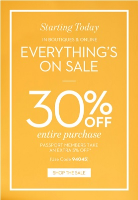 Coupon for: Everything is on sale at Chico's stores and Chico's online
