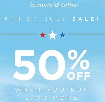 Coupon for: 4th of July Sale at PacSun