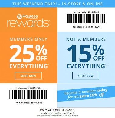 Coupon for: 2 days left to save at Payless ShoeSource