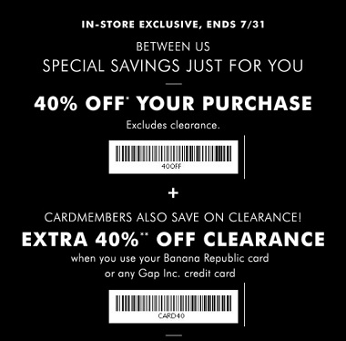 Coupon for: Last day to save at Banana Republic Factory