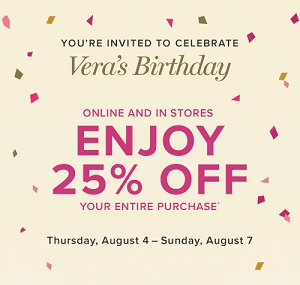 Coupon for: Enjoy Vera's Birthday celebration