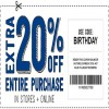 Coupon for: Happy Birthday to Crazy 8