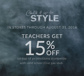 Coupon for: Teachers get a discount at Lane Bryant