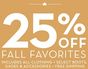 Coupon for: Fall Favorites with discounts at Timberland