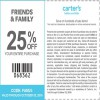 Coupon for: Friends & Family Sale at carter's