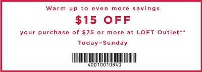 Coupon for: Black Friday Savings available at U.S. LOFT Outlets