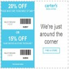 Coupon for: U.S. carter's Offers: Save up to 20% off