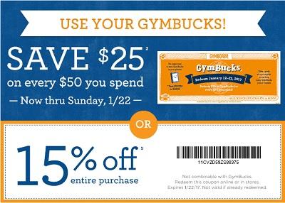 Coupon for: U.S. Gymboree: Use your GymBucks