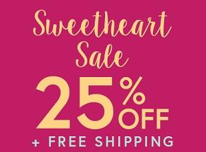 Coupon for: U.S. Perfumania Sweetheart Sale: 25% OFF