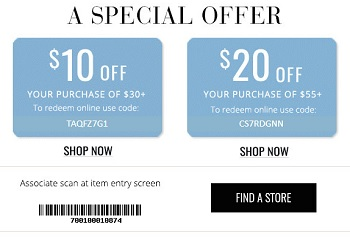 Coupon for: Get a special offer from U.S. Charming Charlie