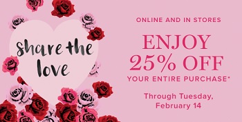 Coupon for: U.S. Vera Bradley Deal: Valentine's Day Sale