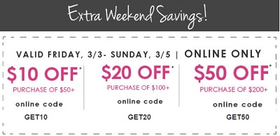 Coupon for: U.S. Kirkland's: Up to $50 off your purchase