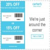 Coupon for: Last day to redeem carter's printable coupon