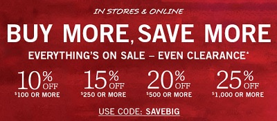 Coupon for: Buy More, Save More at U.S. Pottery Barn stores and online