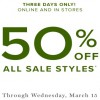 Coupon for: Last day to save at U.S. Vera Bradley stores and online