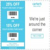 Coupon for: Up to 25% off with printable coupon at U.S. carter's stores