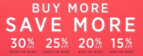 Coupon for: U.S. west elm Deal: Buy More, Save More