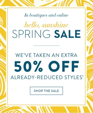 Coupon for: U.S. Chico's Spring Sale: Extra 50% off