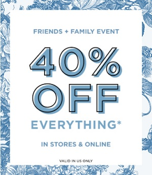 Coupon for: Save money during Friends & Family Event at U.S. LOFT