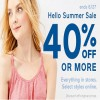 Coupon for: Hello Summer Sale is on at U.S. Gap Factory