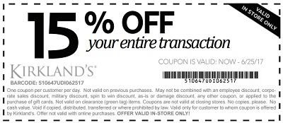 Coupon for: U.S. Kirkland's: Save More on Summer Steals