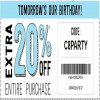 Coupon for: It is Birthday time at U.S. Crazy 8