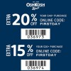 Coupon for: U.S. OshKosh B'gosh Sale: More you spend, more you save