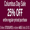 Coupon for: Shop Columbus Day Sale at U.S. dressbarn