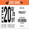 Coupon for: U.S. Crazy 8 Spooky Savings: Extra 20% off