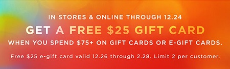 Coupon for: U.S. American Eagle Outfitters: Get a free $25 gift card
